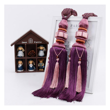 2Pcs/Pair Home Window curtain clips accessories Hanging Belt Ball strap Curtain tassel tieback Tie Backs Lashing Bind