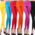 Low-priced on sale 2017 Spring and Autumn Style  candy color Women leggings Plus size 4XL Elastic Waist women's  pants