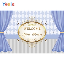 Yeele Prince Baby Shower Curtain Photography Backgrounds Children Birthday Party Custom Photographic Backdrop For Photo Studio sensfun masha and the bear photography backdrop for photo studio newborn baby shower children birthday party backgrounds