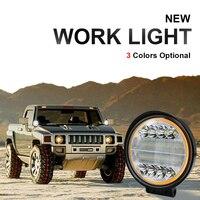 자동차 led 작업 램프 전조 등 72 w 12 v 14400lm 오프로드 차량 조명 자동 보조 운전 스팟 램프 자동차 헤드 라이트 스포트 라이트