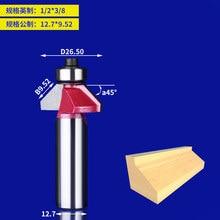 1 шт. Деревообработка маршрутизатор бит 45 градусов V Тип резак фреза подшипником лезвия ножа фреза для дерева