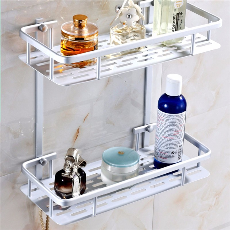 buy bathroom shelves space alumimum 123 tier home kitchen bathroom shower storage shelf caddy basket rack wall mounted bath shelve from