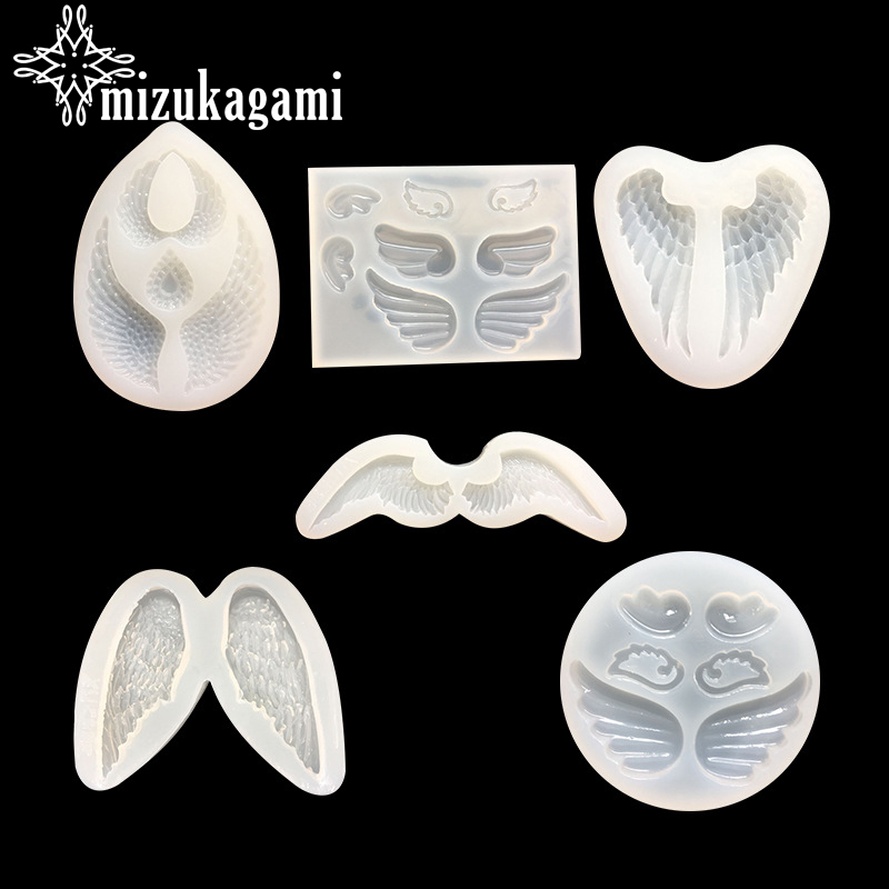 1pcs UV Resin Jewelry Liquid Silicone Mold Angel Wings Resin Charms Pendant Molds For DIY Intersperse Decorate Making Jewelry