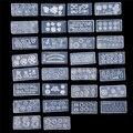 30 шт./компл. Mix Дизайн DIY 3D Силиконовые Nail Art Шаблоны Комплект Акриловые Кабошон Формы Маникюрный Набор Украшения Инструмент Кабошон Формы набор