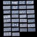 30 unids/set Mix Diseño DIY 3D de Silicona Plantillas Del Arte Del Clavo Kit de Acrílico Cabochon Cabochon Molde Del Molde Set Herramienta de la Manicura de La Decoración conjunto