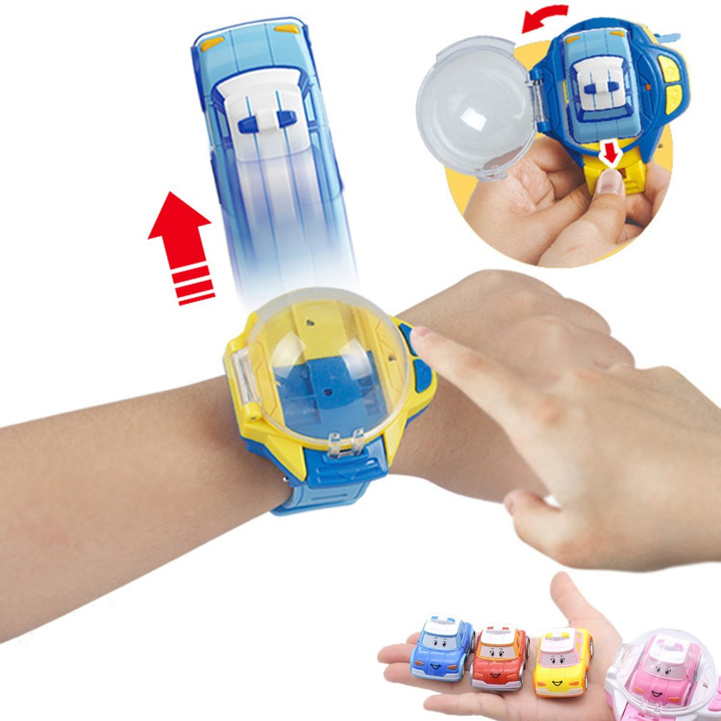 New 2 In 1 Mini Remote Control Watch RC Car Toy Model Children Catapult Vibrating Car Educational Toys Best Gift For Children
