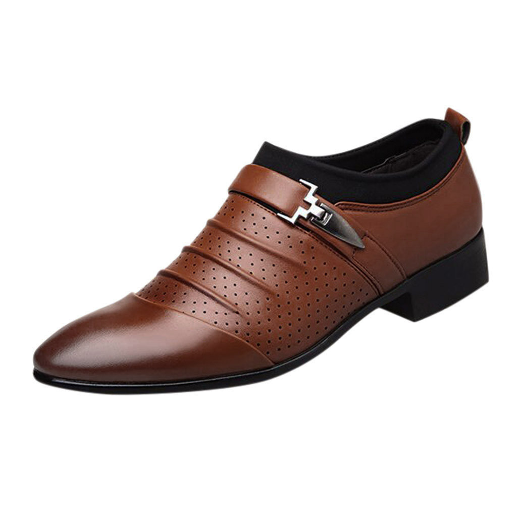 Classic Business Men's Dress Shoes Fashion Elegant Formal Wedding Shoes Men Slip On Office Oxford Shoes For Men Black