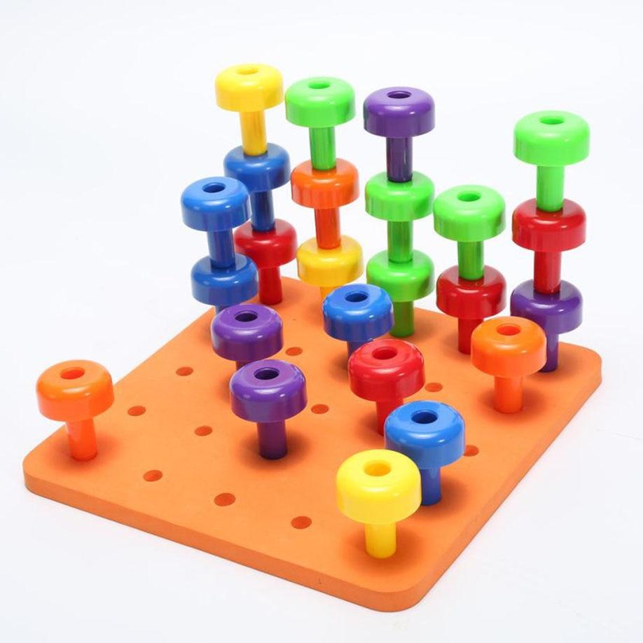 Baby Peg Toys : Muqgew pcs educational toy peg board set montessori