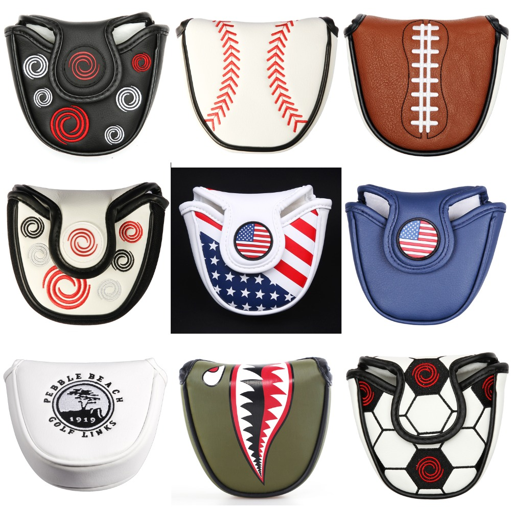 Putter-Covers Closure Mallet Multi-Style Magnetic Golf Customized Synthetic-Leather Color