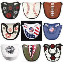купить Magnetic Closure/Velcro Closure Customized Golf Mallet Putter Covers Headcover Synthetic Leather Multi Style Color Free Shipping по цене 386.88 рублей