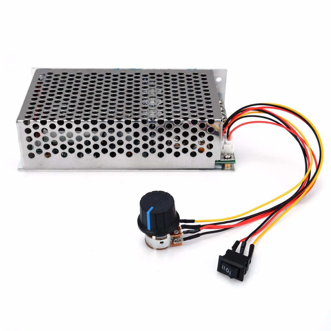 DC Brush Motor Speed Controller Programable Reversible PWM Control 10 50V 100A 3000W 145x80x40mm