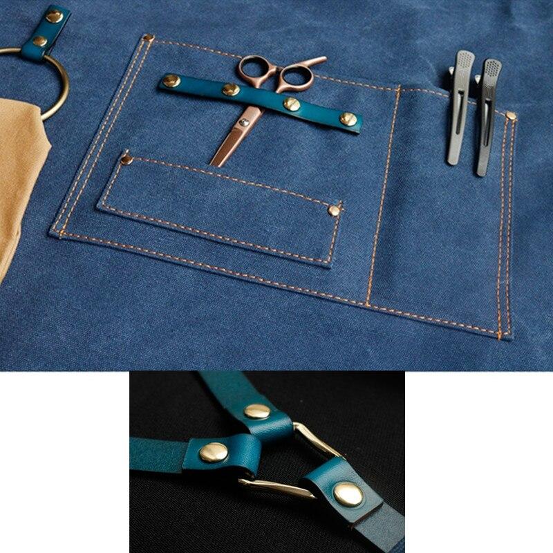 Canvas Apron Leather Strap D55-13