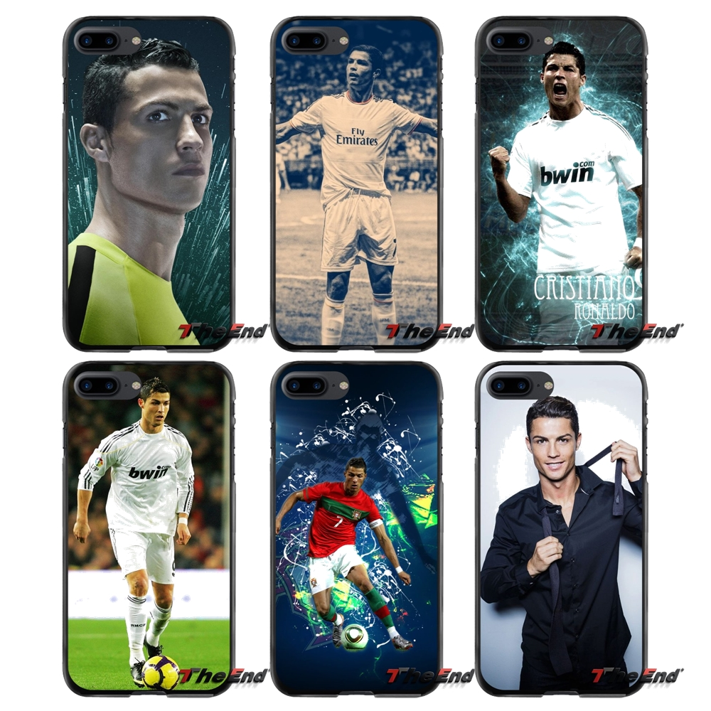 Ronaldo Pattern Print For Apple iPhone 4 4S 5 5S 5C SE 6 6S 7 8 Plus X iPod Touch 4 5 6 Accessories Phone Cases Covers