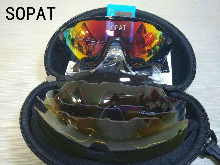 HTB1O.gJPVXXXXaiapXXq6xXFXXX8 - 2018 4 Lens Mountain Velo Goggles Polarized Jaw Breaker Sunglasses Men Women MTB sopat Eyewear JBR Sun Glasses with Myopia Frame