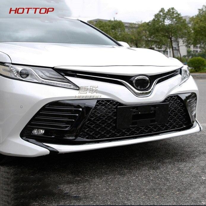 Pour Toyota Camry 2015 2016 extérieur ABS Chrome Grille modifier Grilles avant brillant avant maille Grilles décoration Center Grille
