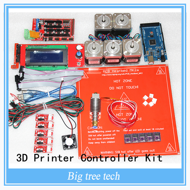 DRV8825 +Ramps 1.4 + Mega2560 R3 + Hot end 3D Printer Controller Kit For RepRap