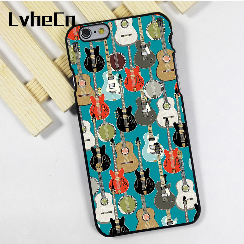 LvheCn phone case cover fit for iPhone 4 4s 5 5s 5c SE 6 6s 7 8 plus X ipod touch 4 5 6 Guitar Electric Acoustic Instrument