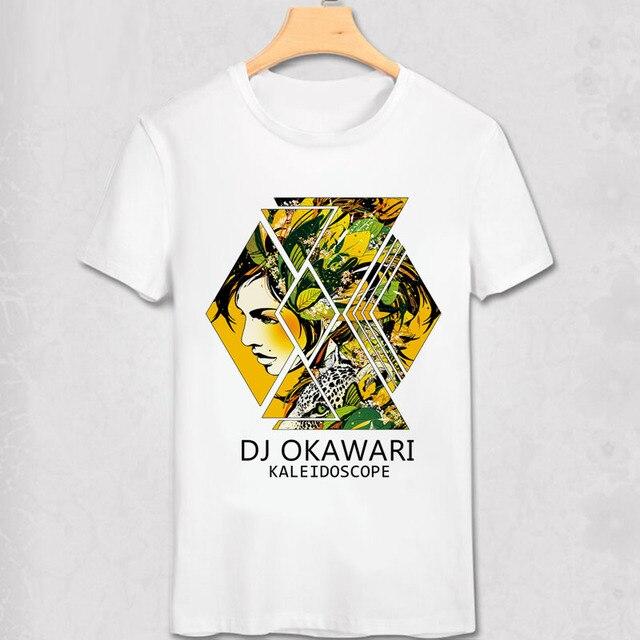 f3309a975bd78 Janpan Dj Okawari T Shirt Disc Jockey Girl Flowers Leave Fantasy Design  Cool Men T-shirt Color Print Vogue Fashion Brand Shirt