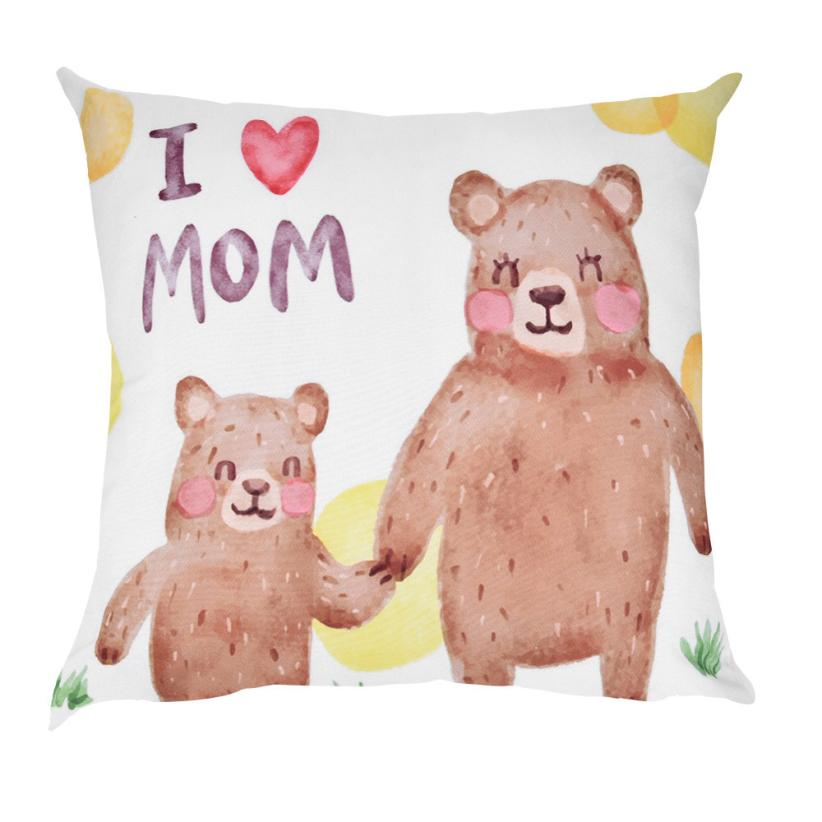 Pillow Neck Pillows Happy Mother's Day Print Pillow Case