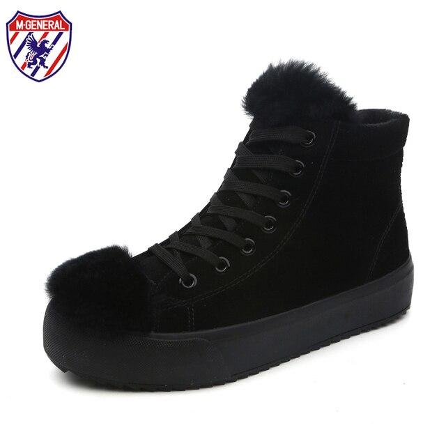 5f3c8e463 M. GERAL Das Mulheres Pele De Porco Inverno Ankle Boots Botas de Neve de  Couro