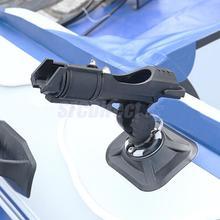 カヤックインフレータブル漁船ロッドホルダーレールサイドフラッシュマウントロッドホルダー釣具ツール360度調整可能なディンギーペスカ