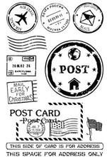 post card Transparent Clear Silicone Stamp/Seal for DIY scrapbooking/photo album Decorative clear stamp sheets R17