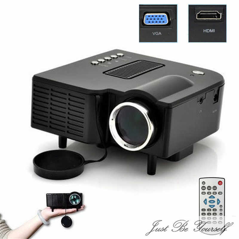 HIPERDEAL LED Projector New Portable Multimedia LED Projector Home Cinema Theater Support AV VGA USB SD HDMI Black Apr18