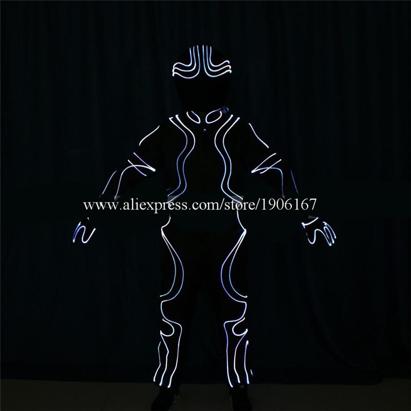 DMX512 Program full color led costumes colorful light robot suit dj catwalk cloth club bar performance show dancer wears02