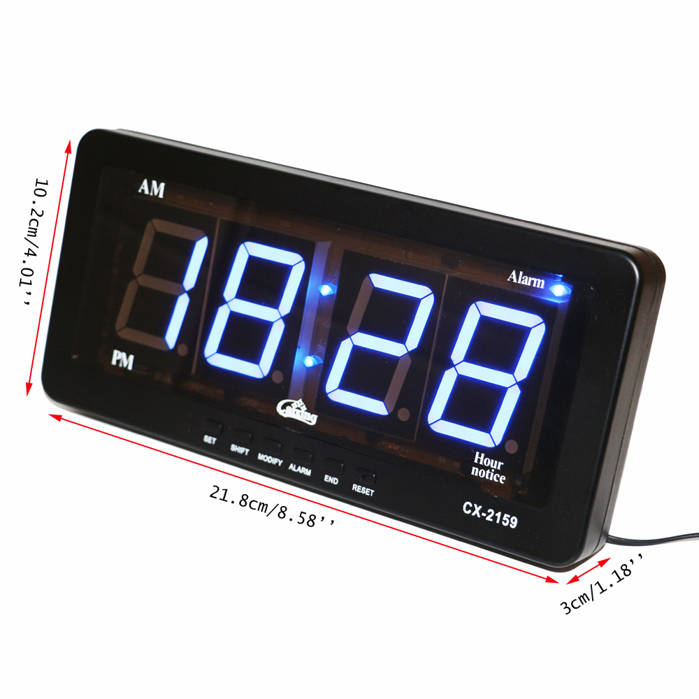 Excellent Blue Led Display Digital Led Alarm Clock Wall Clock Large Numbers Easy Toread Silent Electronic Alarm Clocks Ac Desk Table Clocksfrom Blue Led Display Digital Led Alarm Clock Wall Clock Larg furniture Easy To Read Wall Clock
