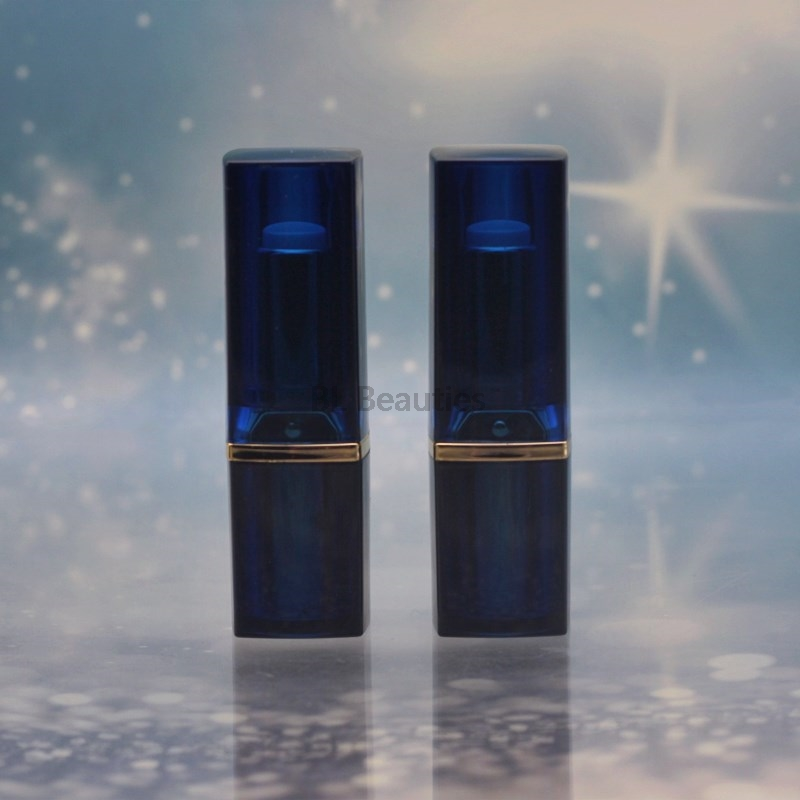 100Pcs Black And Blue Empty Lipstick Tube Homemade DIY Lip Balm Gloss Tubes Refillable Bottles Lip Rouge Compact Containers