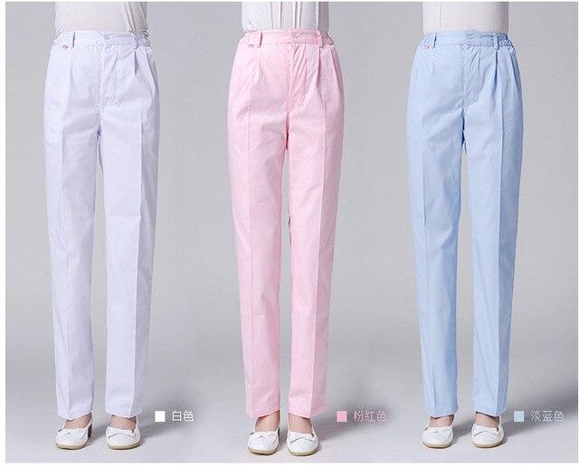 5c48de559ff Medical uniformes hospital Nurse Pants belt Doctors Work Pants Medical  Pants Trousers Female 100% Cotton Wearable and Pilling
