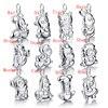 Retro Chinese Style 12 Zodiac Pendant Solid 925 Silver 12 Zodiac Necklace Men Women Childre Wholesale