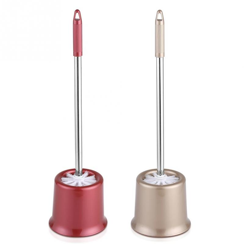 Stainless Steel Bathroom Cleaning Toilet Brushes Holder with Canister Sets Home Hotel Tool Accessory