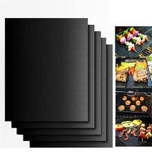 2pc Non-stick BBQ Grill Matt Pad Barbecue Baking Liners Reusable Teflon Cooking Sheets 40x30cm Cooking Tools Accessories Mats 2pcs teflon non stick bbq grill mats black 15 7 x 13