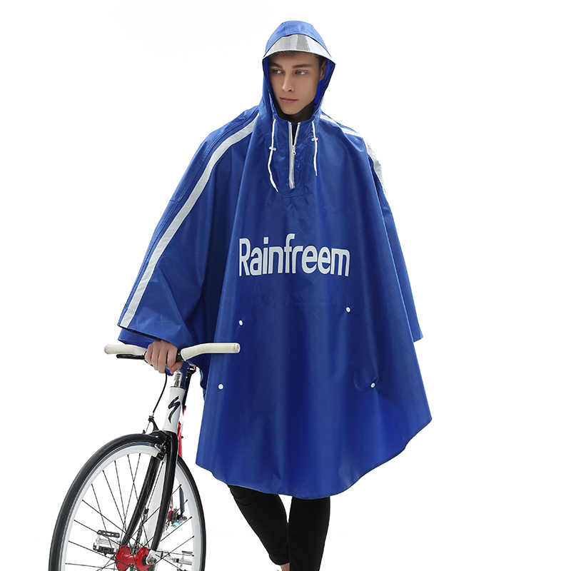 Rainfreem Bicycle Poncho Oxford Hiking Fishing Raincoat New Design Waterproof Rain Gear