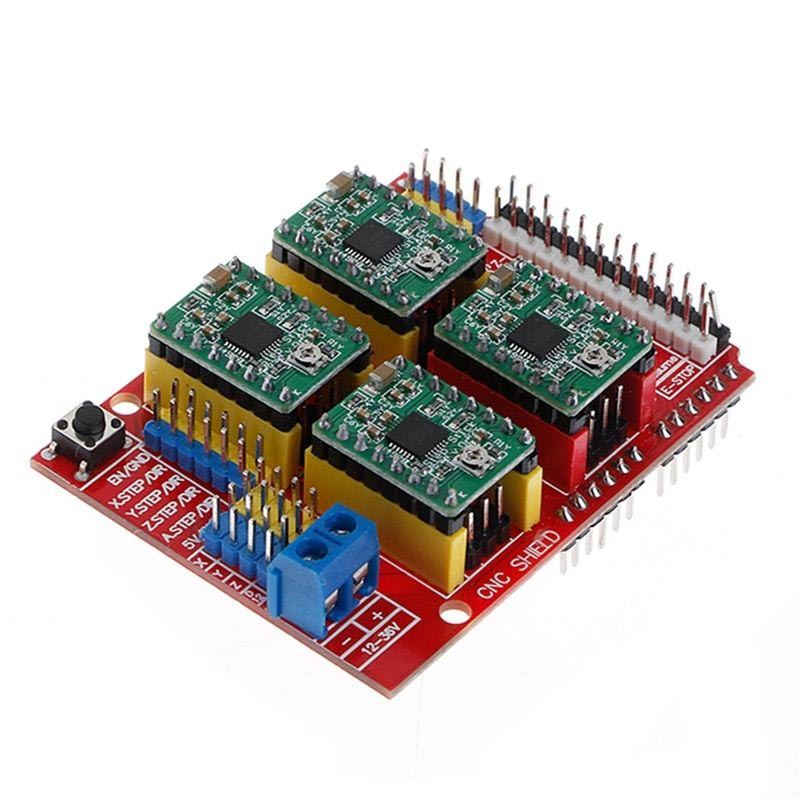 Free Shipping Cnc Shield V3 Engraving Machine 3d Printer Integrated Circuits 4pcs A4988 Driver Expansion Board Uno R3 With Usb Cable Available In Various Designs And Specifications For Your Selection