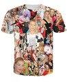 Звезда летняя узор t рубашка игги азалия папарацци 3D цифровой принт t рубашка мужчины / женщины верхний тис