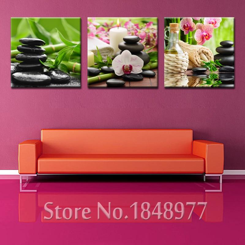 3 Piece Spa Nail Salon Flowers Modern Wall Art Canvas Painting ...