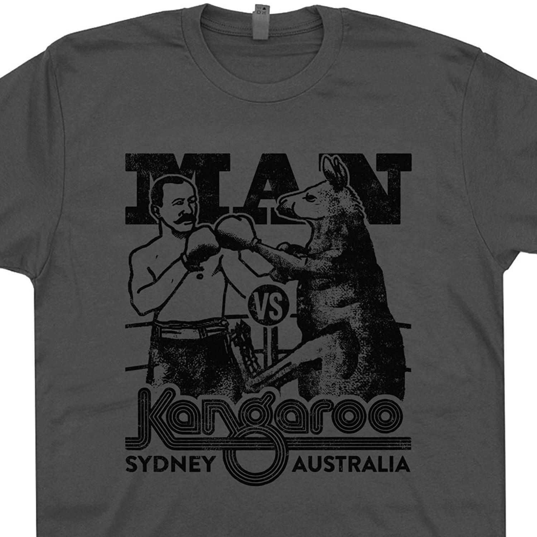 Shirt design online australia - Gildan Kangaroo T Shirt Retro Graphic Design Vintage Australia Man Vs Kangaroos Koala Bear Tees