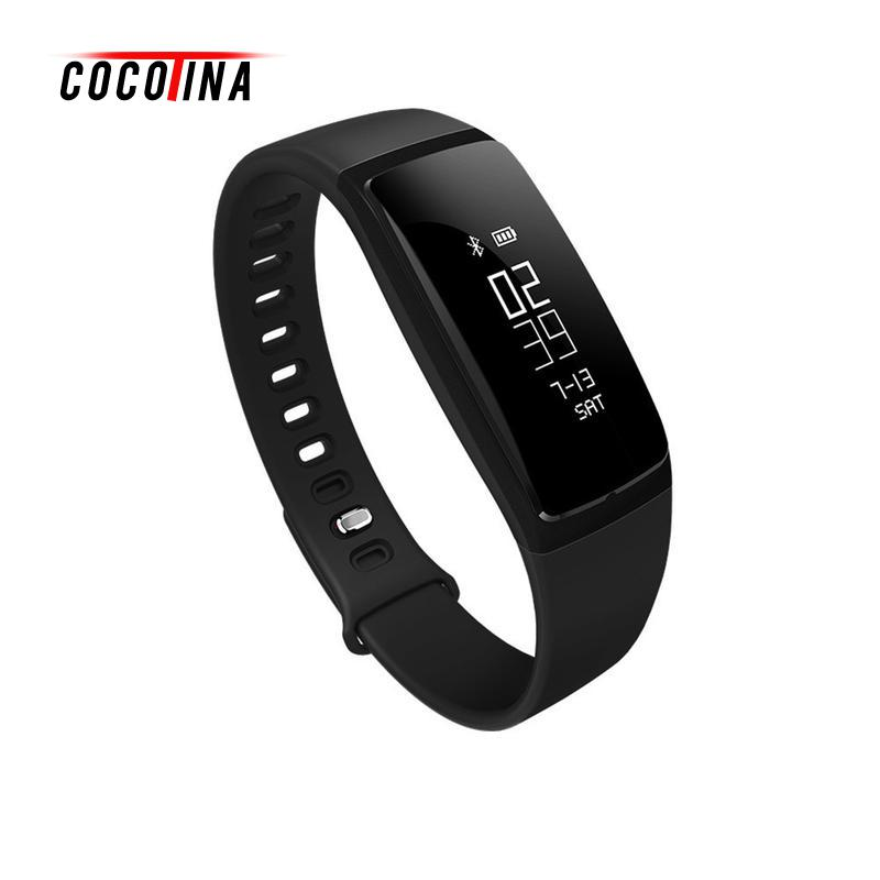 COCOTINA Smart Black Bracelet Bluetooth Watch Fitness Tracker Smart Watch Heart Rate Monitor For IOS Android LSB1434 no 1 g6 asia bluetooth 4 0 heart rate monitor smart watch black