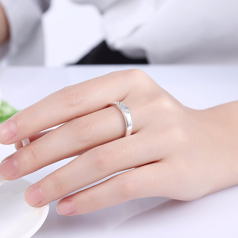 Aliexpress.com : Buy Wedding Ring Silver Plated Ring Cubic Zircon ...