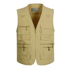 Fishing Vest Men Summer Traveler Sleeveless Jackets Waistcoat Outdoors Casual Vest With Many Pockets Work Vest Photographer