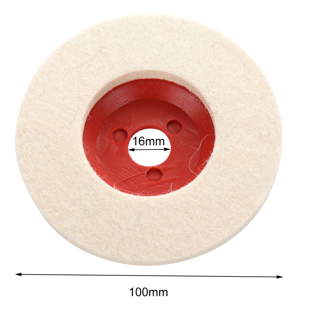 Wool Polishing Wheel Buffing Pads Angle Grinder Wheel Felt Polishing Disc For Metal Marble Glass Ceramics 100mm