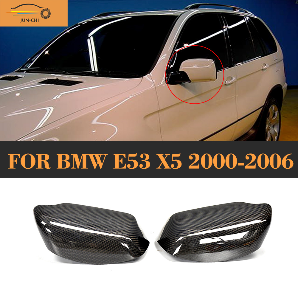 Carbon Fiber Replaced Style Side Mirror Cover for BMW E53 X5 2000 2001 2002 2003 2004 2005 2006 e60 carbon fiber front side mirror cover cap trim for bmw e60 5 series 520i 523i 530i 535i 520d 525d 530d 535d 2004 2009