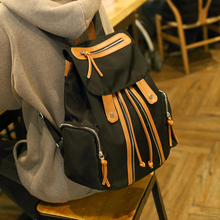 2016 new fashion women backpack  nylon  fashion rucksack Oxford cloth ladies students vintage soft  black brown school