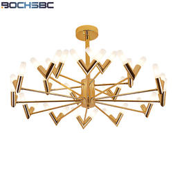 BOCHSBC Nordic ветви деревьев подвесные светильники Современные золотистого металла подвесной светильник Led Книги по искусству светильники для