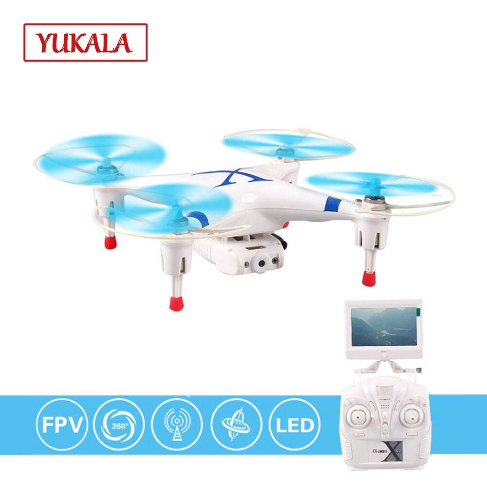 Drones Rc quadrocopter YUKALA FPV 5.8G 4CH 6 essieux télécommandés avec caméra HD FPV RTF jouets pour garçons enfants