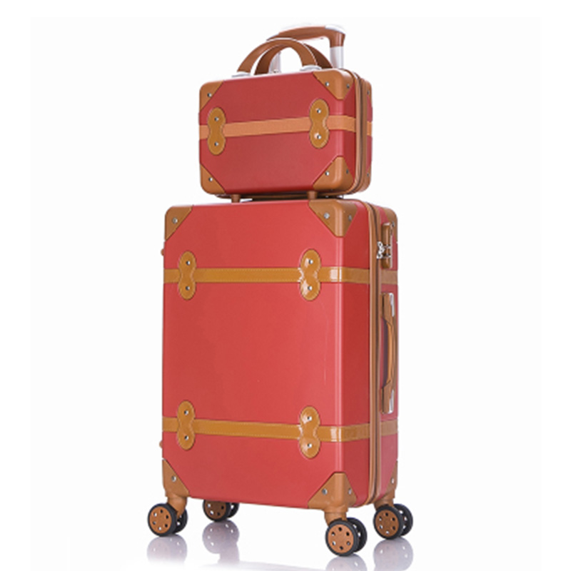 Travel Suitcase Set Rolling Luggage Trolley Case Travel Bag 24 Inch Retro Suitcase Wheels Women Cosmetic Case Carry On Luggage