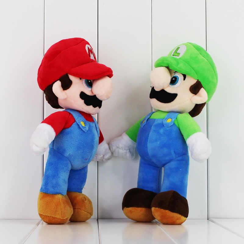 Alta Qualidade Super Mario Bonecos De Pelúcia 10 ''25 cm Super Mario Bros Mario Luigi Stuffed Plush Toy