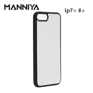 Image 3 - Manniya 2d 승화 빈 고무 tpu + pc 케이스 아이폰 7 플러스 8 플러스 알루미늄 삽입 및 접착제 무료 배송! 50 개/몫
